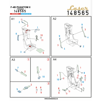 Messerschmitt Bf109G-6 - RIVETING SET (Tamiya) - 1/48 - 481030