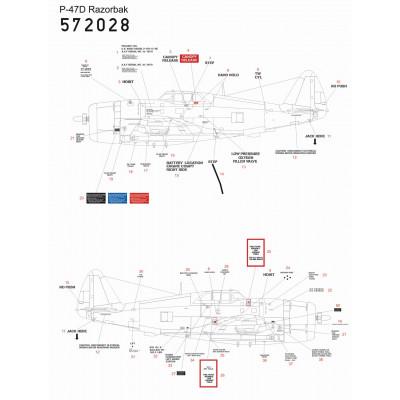 P-47D Thunderbolt - Super Nýtovací sada (Hasegawa) - 1/32 - 321023