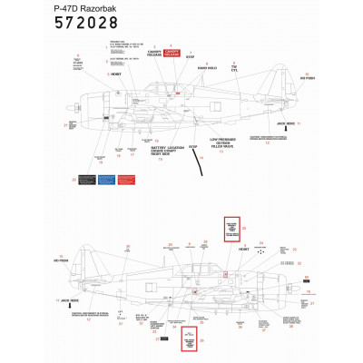 Fw190D-9 - Popisky 1/48 - 248070