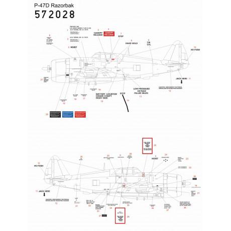 Fw190D-9 - Stencils 1/48 - 248070