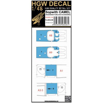 F6F-5 Hellcat - Stencils 1/48 - 248075