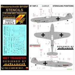 Messerschmitt Bf 109F - Popisky 1/48 - 248045