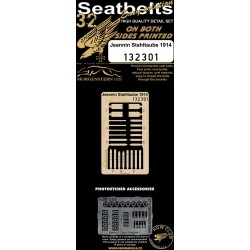 Jeannin Stahltaube - Double-sided Seatbelts 1/32 - 132301
