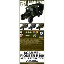 Scammel Pioneer R100 - Stencils 1/35 - 235004