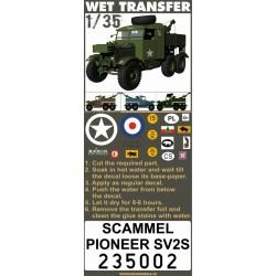 Scammel Pioneer SV2S - Stencils 1/35 - 235002