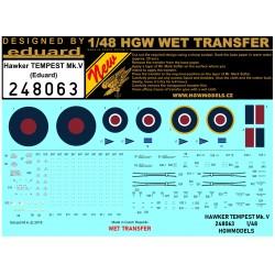Hawker TEMPEST Mk.V  - Stencils 1/48 - 248063