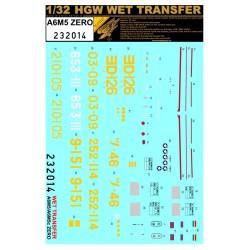 A6M5 Zero - Popisky 1/32 - 232014