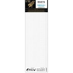 Dvojité & trojité řady - Nýty 0,80 mm 1/32 - 322012