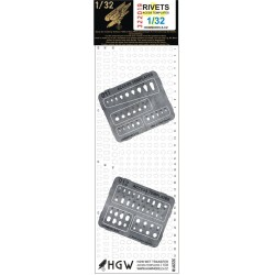 Access Templates Plus - Positive Rivets 1/32 - 322019
