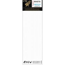 Single Lines - Rivets 0.80 mm 1/72 - 722013