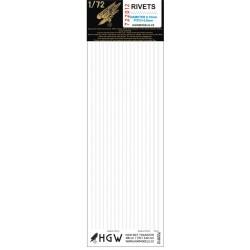 Double & Triple Lines - Rivets 0.60 mm 1/72 - 722012