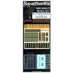 B-17 - Textilní pásy & Sedadlo 1/32 - 132534