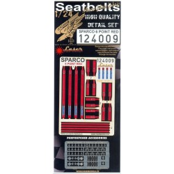 Sparco 6 Point Red - Seatbelts 1/24 - 124009